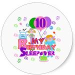 10th birthday sticker