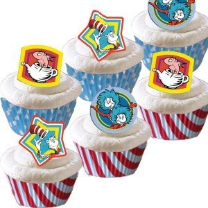 Dr Seuss Cupcake Toppers and Wrappers
