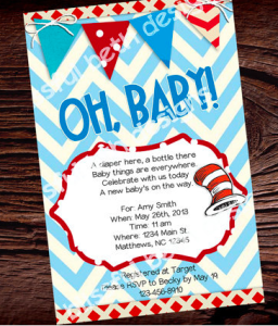 Dr. Seuss Baby Shower Printable Invitation