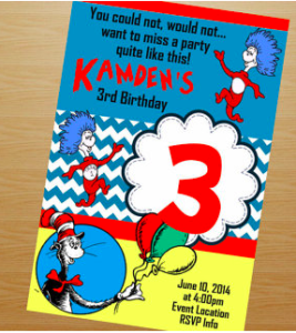 Dr. Seuss Birthday Invitation