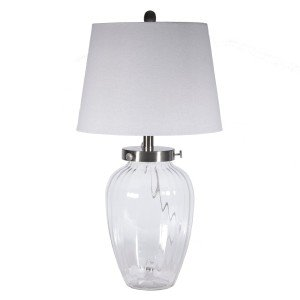 Fillable Clear Glass Table Lamp
