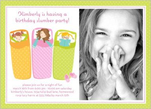 Fun Slumber Party Birthday Invitation
