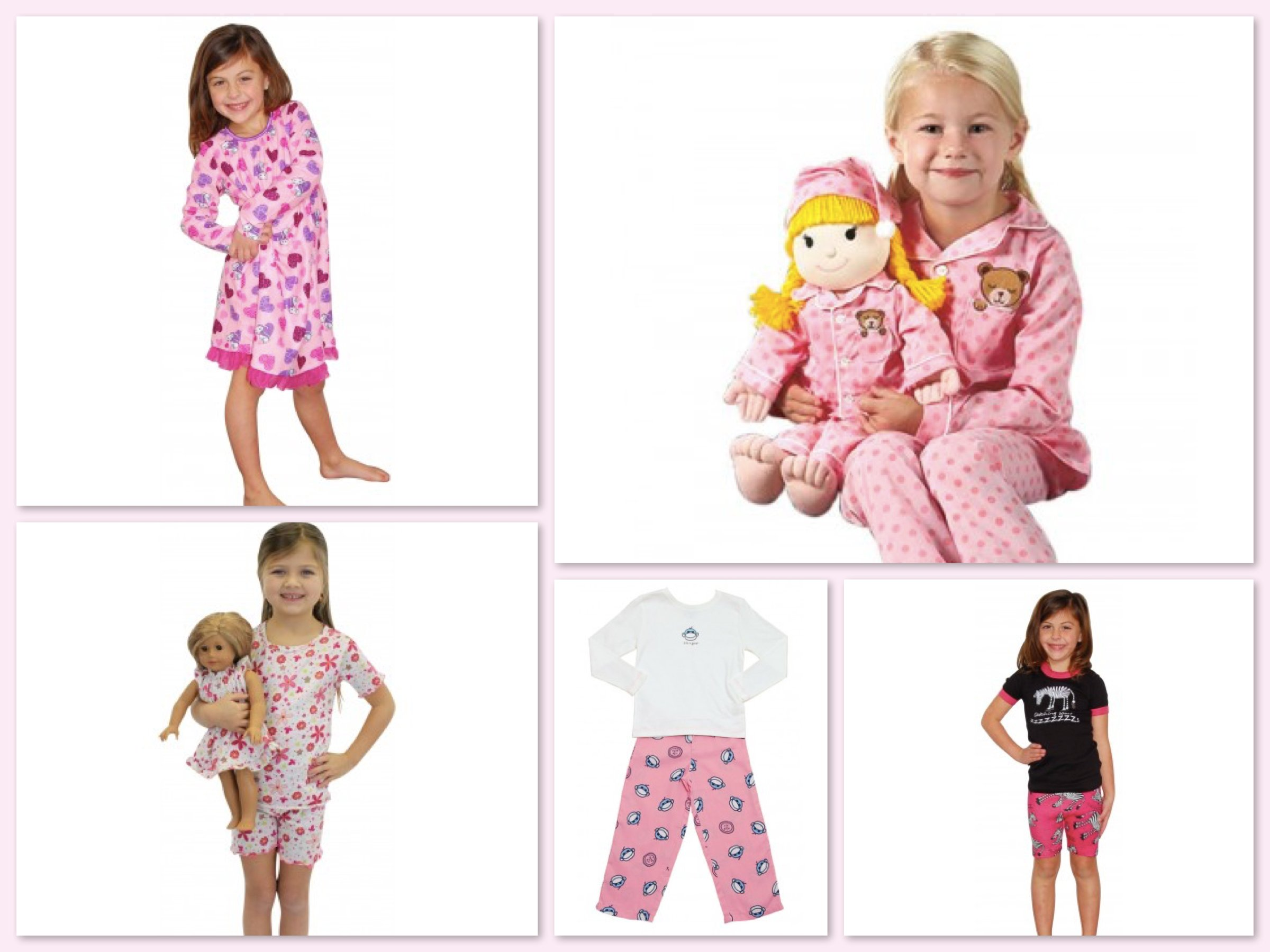Girls Slumber Party Pajamas