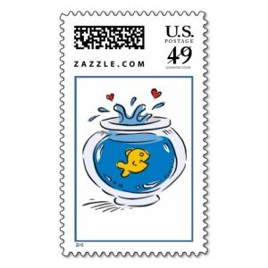Goldfish in a Bowl Stamps