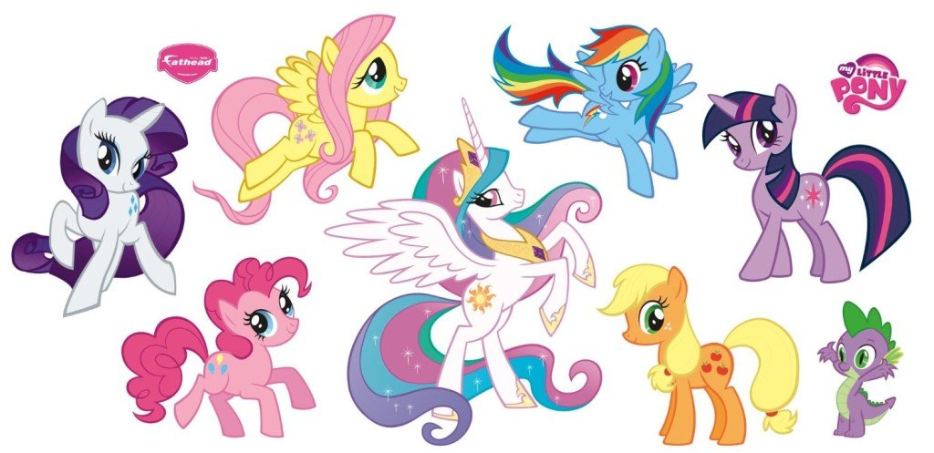 Hasbro My Little Pony Collection Wall Decal