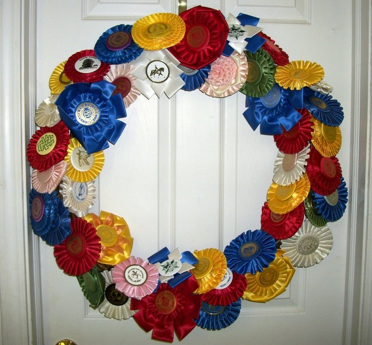 Horse Show Ribbon Wreath