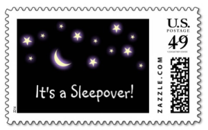 It's a sleepover stamp