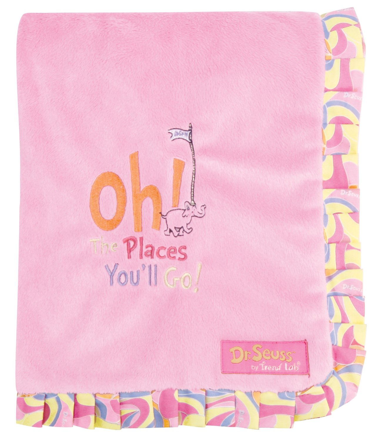 Oh! the Places You'll Go Dr Seuss Receiving Blanket