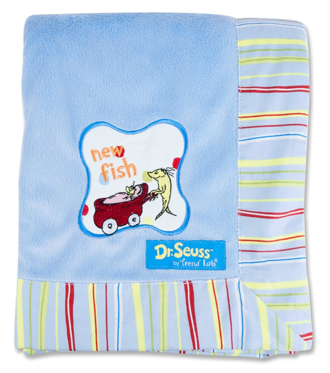 One Fish Two Fish Dr Seuss Receiving Blanket
