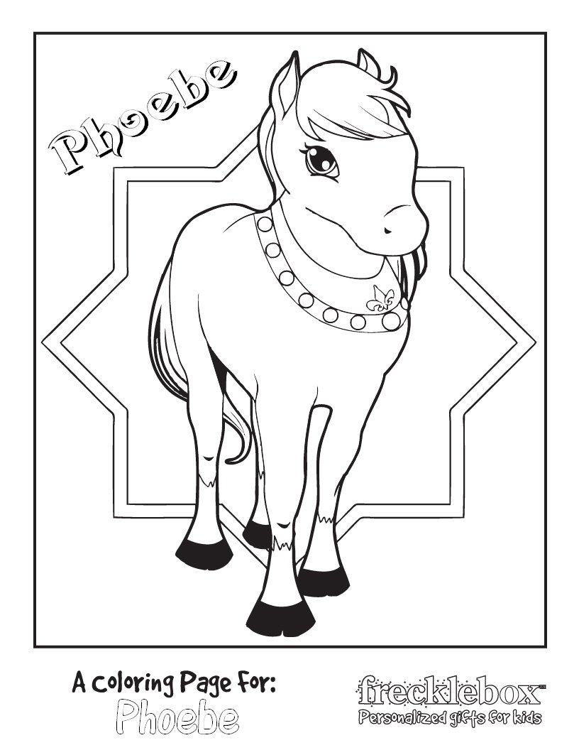 Personalized Princess Pony Coloring Page