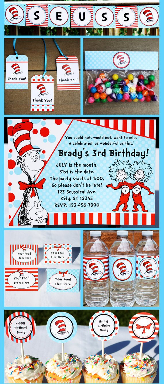 image regarding Dr Seuss Happy Birthday to You Printable named Dr Seuss Topic Bash Coming up with, Programs Components
