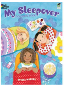 Sleepover coloring book