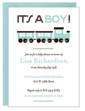 Train Baby Shower Invitation