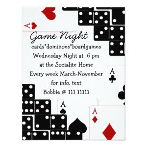 domino aces personalized invites