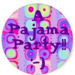 festive circles sticker