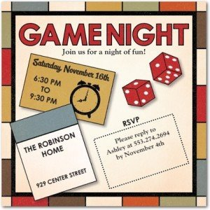 fun night game night party invitations