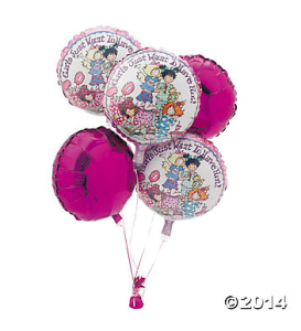 slumber party balloons