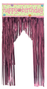 slumber party door fringe