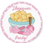 slumber popcorn sticker