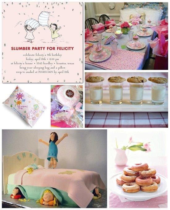 slumber party ideas & supplies
