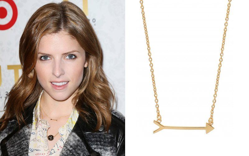 Anna Kendrick wearing Stella & Dot On the Mark Arrow Necklace