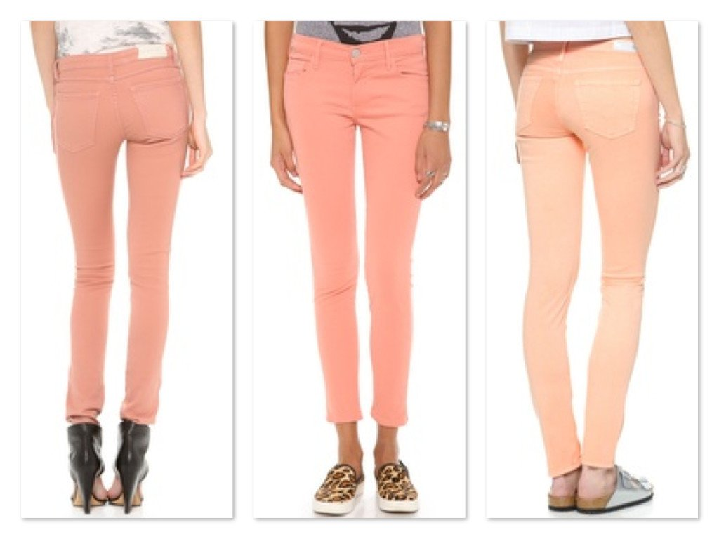 Colored denim Jeans