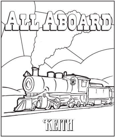 Free ALL ABOARD COLORING PAGE