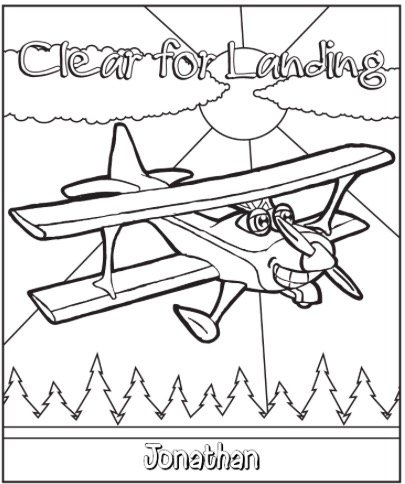 Free CLEAR FOR LANDING COLORING PAGE