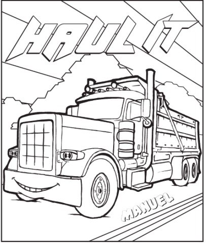 Free HAUL IT COLORING PAGE