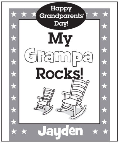 Free MY GRAMPA ROCKS COLORING PAGE