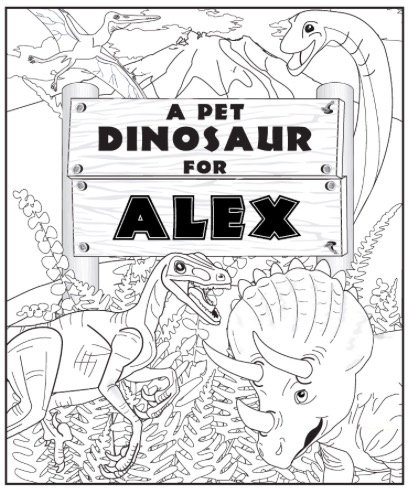 Free MY PET DINO COLORING PAGE