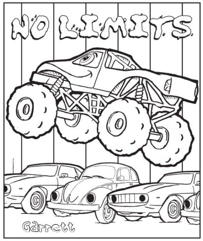 Free NO LIMITS COLORING PAGE