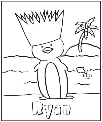 Free PENGUIN ISLAND COLORING PAGE