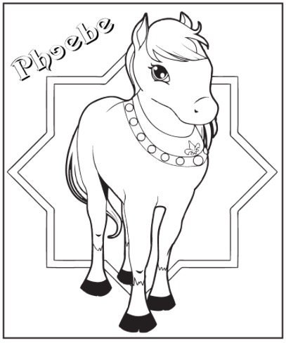 Free PRINCESS PONY COLORING PAGE