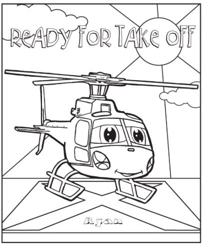 Free READY FOR TAKE OFF COLORING PAGE
