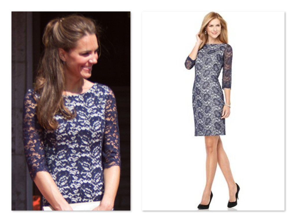 Get the Look Kate Middleton Blue Lace Erdam Dress