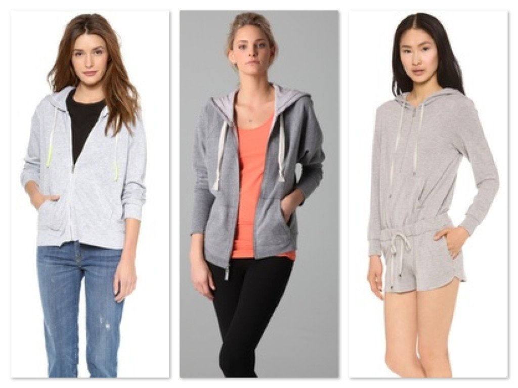 Get Zippered Heather Grey Hoodies on ShopBop