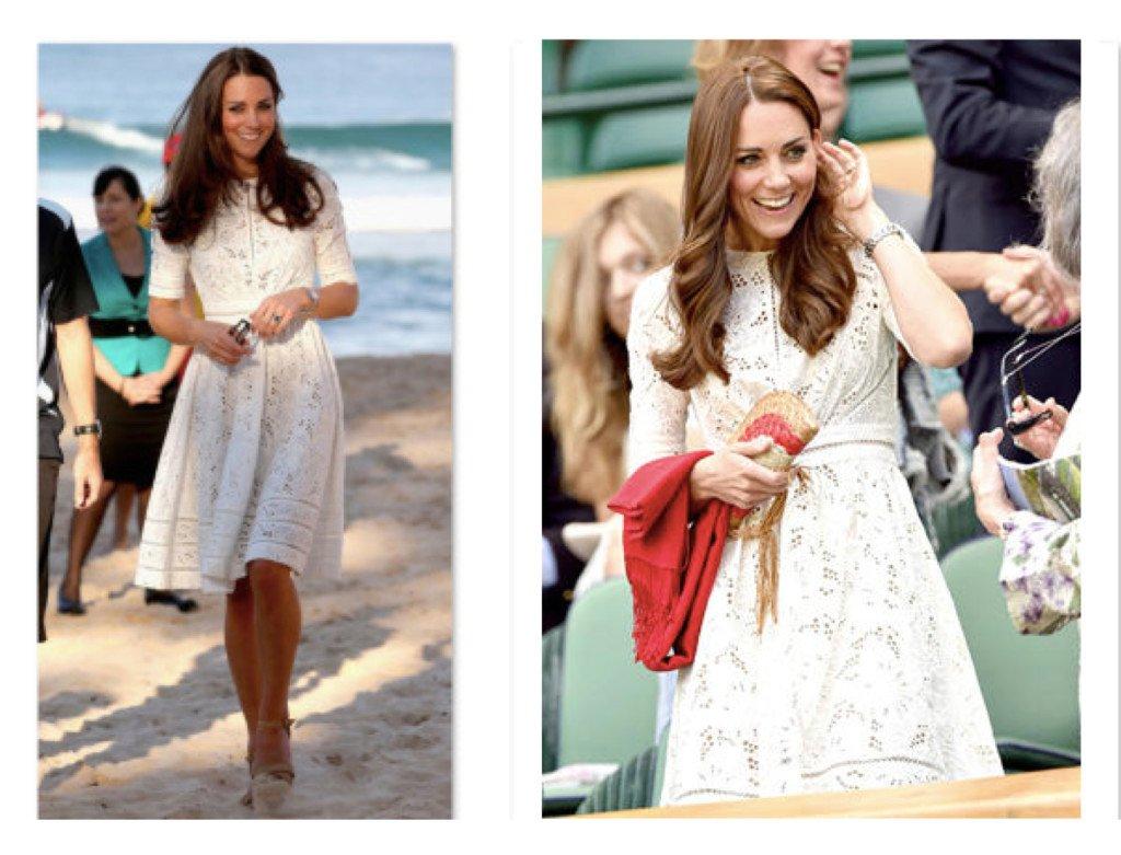 Kate Middleton Wearing Zimmermann Roamer Day Dress in Australia & at Wimbledon 2014