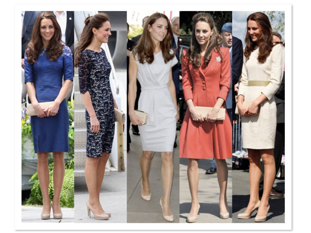 Kate Middleton Fashion Shown with her Go To Nude Pumps