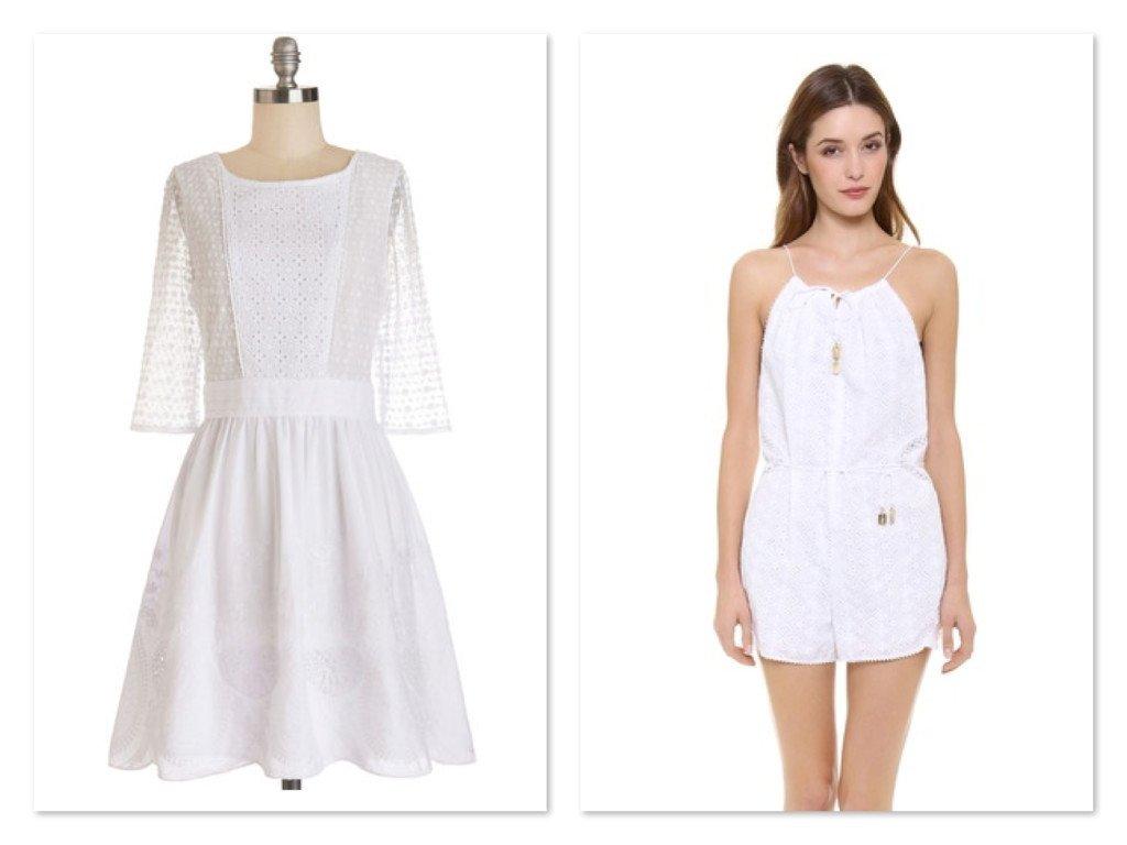 White Eyelet Outfits