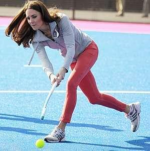 Kate Middleton playing Field Hockey