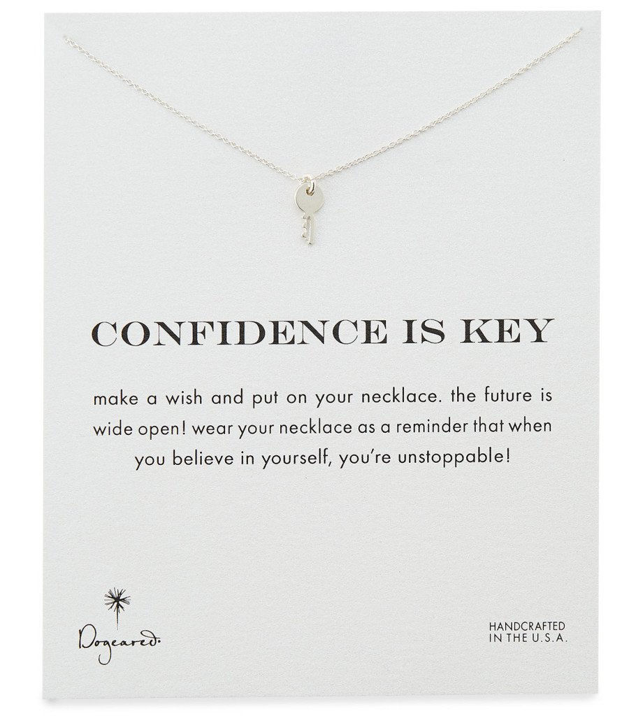 Key Necklace, Dogeared Confidence is Key Silver-Plated Necklace