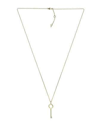 Michael Kors Pave-Key Pendant Necklace