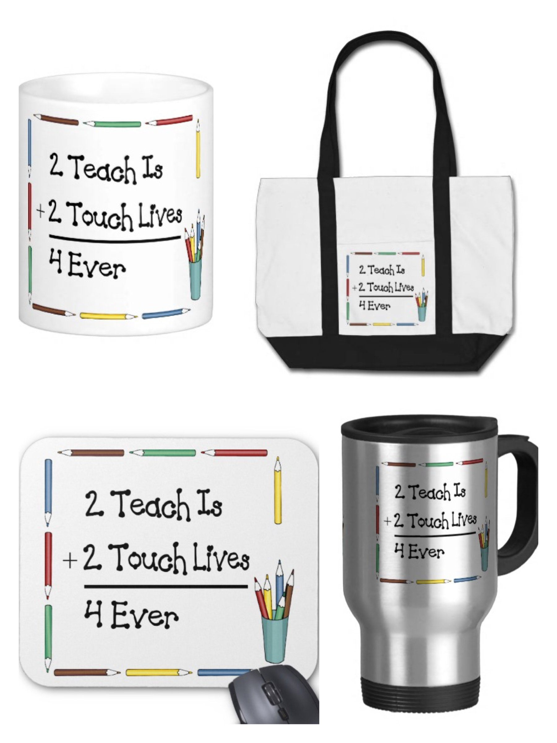 2 Teach is to Touch Loves 4 Ever Teacher Gifts