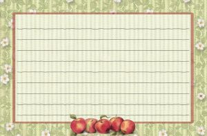 Apple Orchard Recipe Card