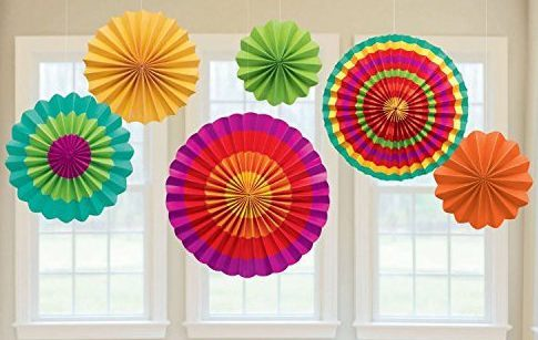 Fiesta Colorful Paper Fans