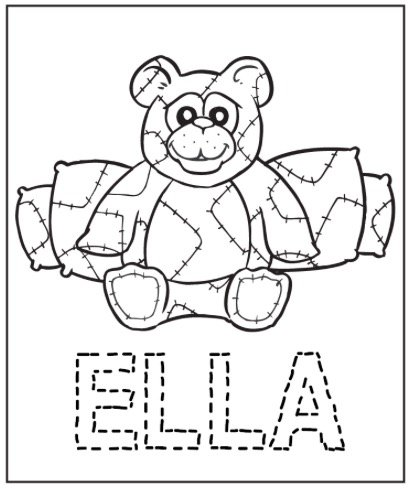 Free BEARY HAPPY COLORING PAGE