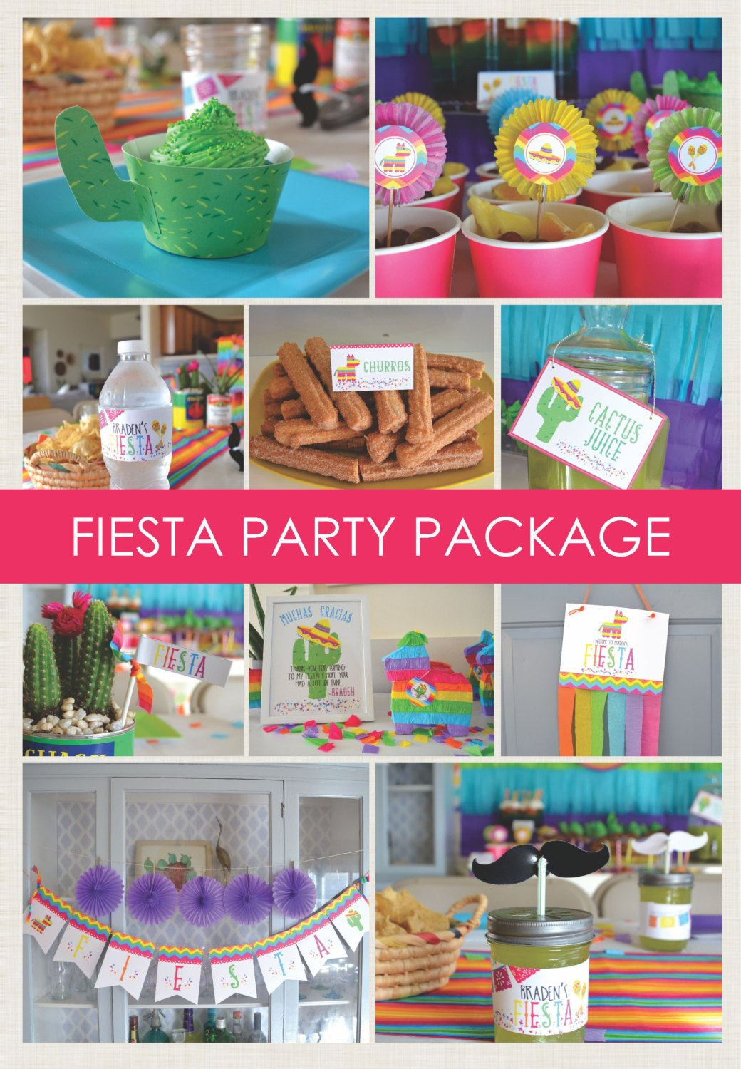 Printable Fiest Party Package