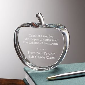 Teachers Inspire Personalized Crystal Apple Keepsake