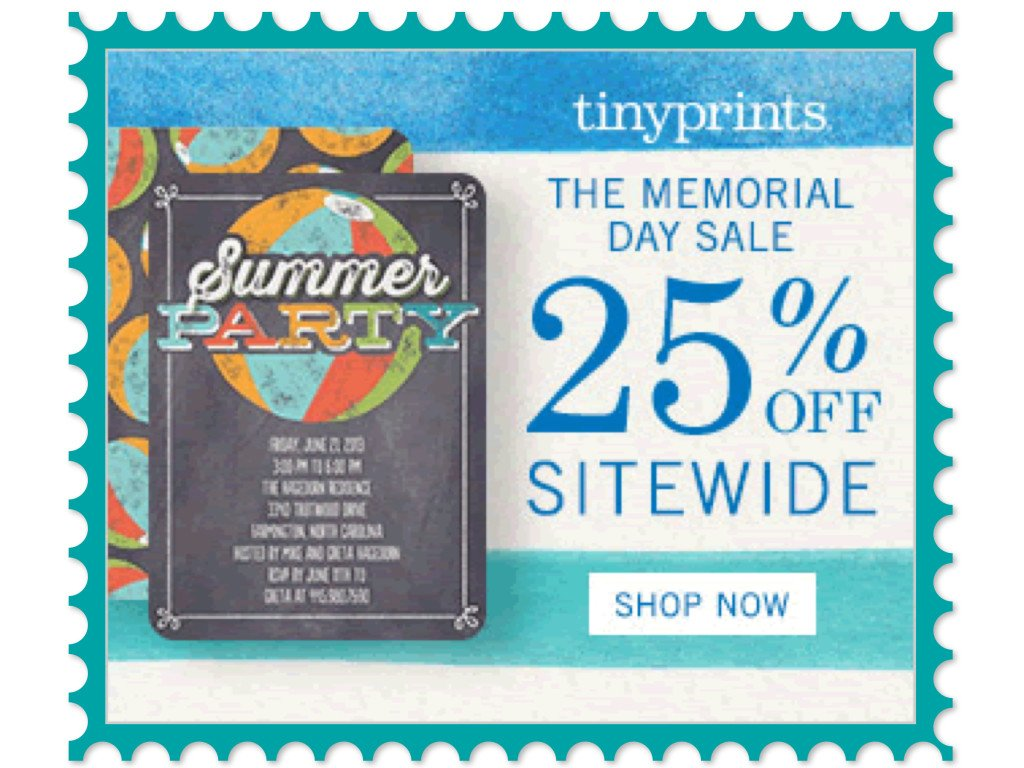 Tiny Prints Memorial Day Sale